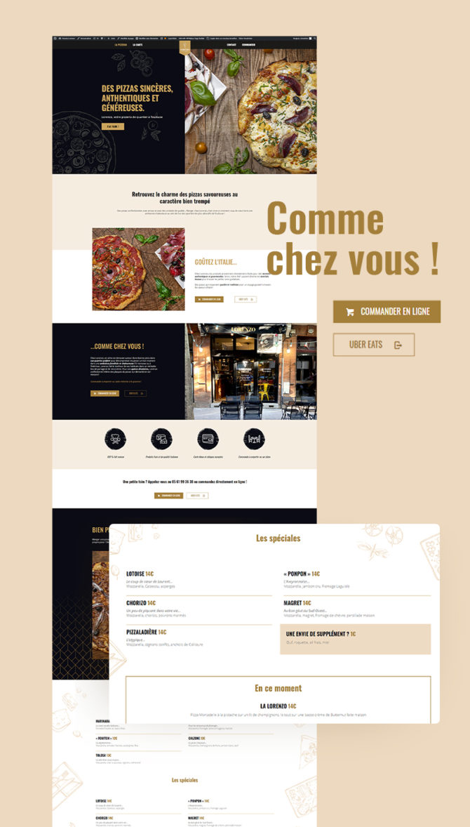 Site internet lorenzopizzeria.fr
